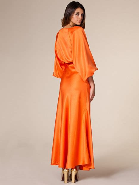 statement dress nly trend orange party dresses