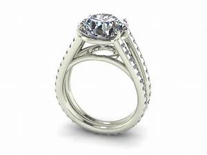Round split shank diamond engagement ring dallas shapiro for Wedding rings dallas texas