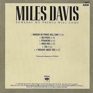 THE COVER PROJECT: Miles Davis - Someday My Prince Will ...