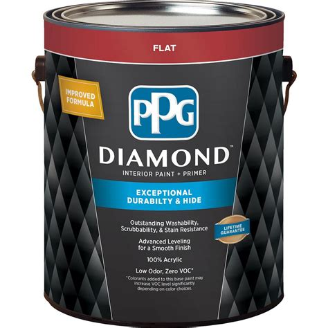 Ppg Diamond 1 Gal Pure White Base 1 Flat Interior Paint