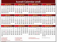 Get Template Of 2019 Calendar With Kuwait Holiday Free
