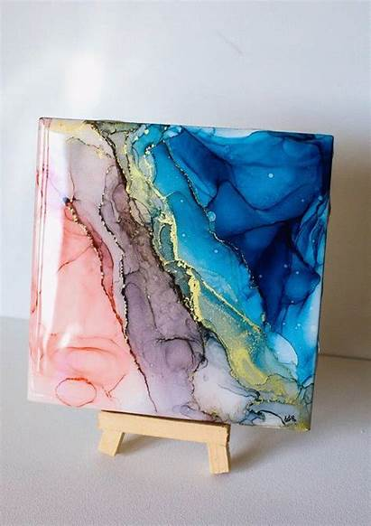 Abstract Alcohol Acrylic Ink Painting Fluid Inks