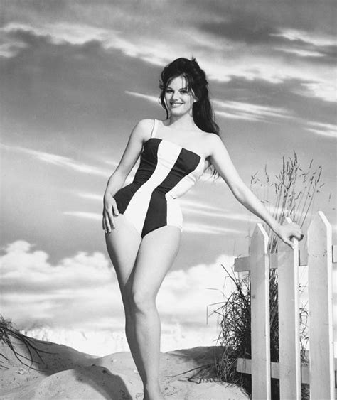 claudia cardinale bikini italian actress claudia cardinale models a striped