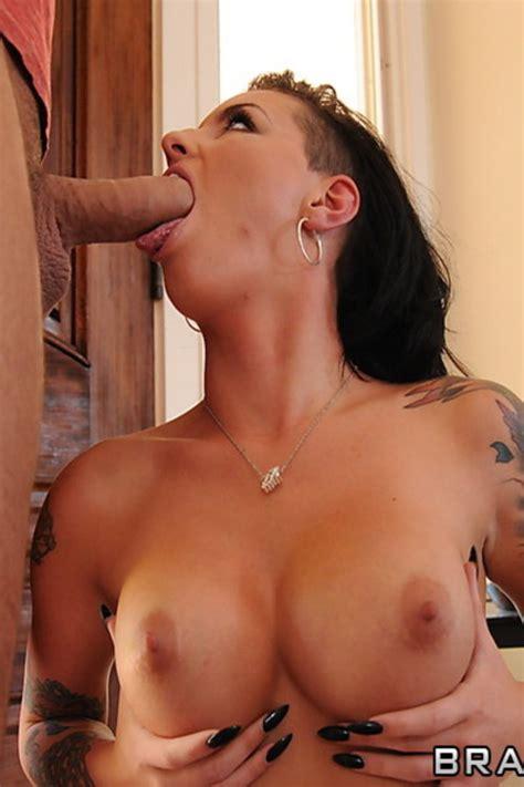 Tattooed Busty Chick Christy Mack Teasing Milf Fox