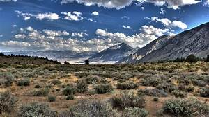 Sierra Nevada, mountain, clouds, nature, HDR, hill ...