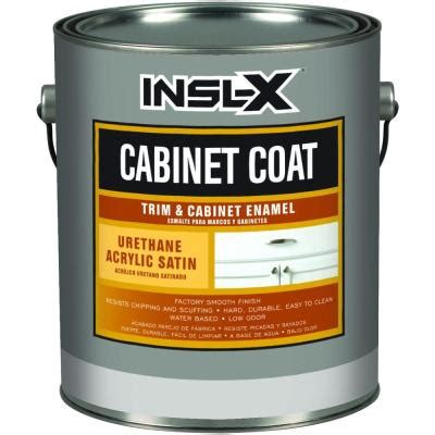 home depot cabinet paint cabinetcoat 1 qt white satin trim and cabinet enamel