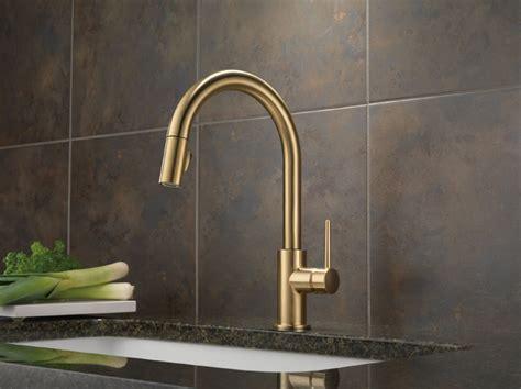 Delta Trinsic Kitchen Faucet Chagne Bronze by Delta 9159 Cz Dst Trinsic Single Handle Pull Kitchen