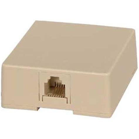 rj single port surface mount jack