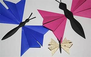 Origami Schmetterling Anleitung : papierschmetterlinge falten anleitung ~ Frokenaadalensverden.com Haus und Dekorationen