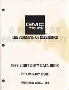 1993 Chevy G Van Wiring Diagram Manual Original