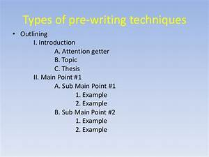 Essay on prewriting for Prewriting outline template