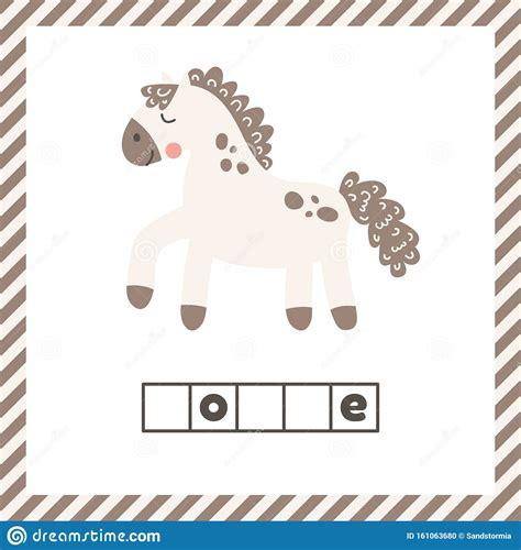Animal horse mare pony horses foal animals. Cute Funny Farm Animal For Kids. Nursery Print Cartoon ...