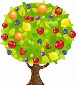 Fruit Tree  With Gradient Mesh  Vector