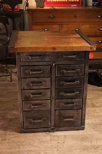 Meuble Industriel Vintage : meuble d 39 atelier industriel d 39 usine ancien meuble industriel vintage de renaud jaylac ~ Nature-et-papiers.com Idées de Décoration