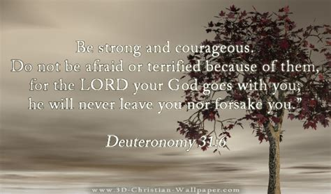 Inspirational Christian Memes - be strong and courageous do not be afraid or terrified because of them for the lord your god