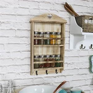 Aufbewahrung Gewürze Küche : holz shabby chic vintage herz gew rz glas regal ~ Michelbontemps.com Haus und Dekorationen