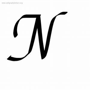 fancy cursive letter n letters example