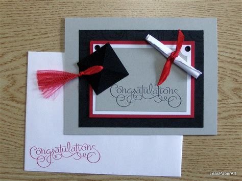 handmade paperart graduation congrats greeting card card