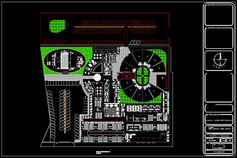 architectural plan school  fine arts dwg plan