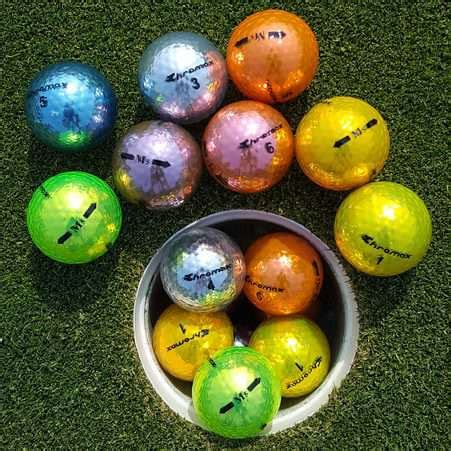 chromax colored golf balls usga approved highly