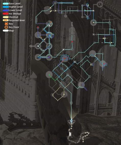 code vein detailed cathedral map  pathing