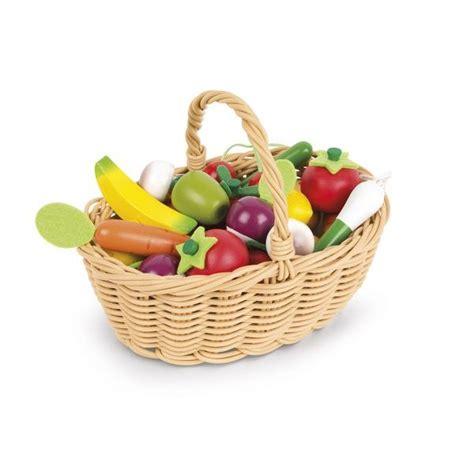 accessoires cuisine enfants panier fruits et légumes jouet en bois cuisine janod