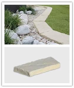 Refaire Son Jardin Gratuitement : bordure jardin beton courbe bordure pierre reconstitue ~ Premium-room.com Idées de Décoration