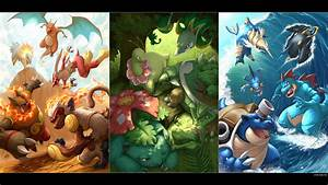 All Pokemon39s Starters All Grown Up