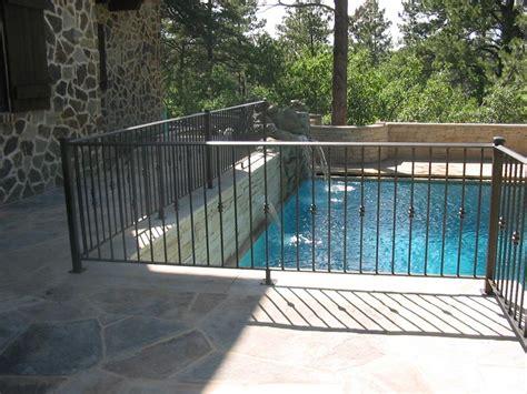pool deck railing taylored iron custom iron works taylored for you colorado front range fences gates
