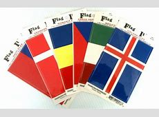 World Flag Stickers, country flag decals, international