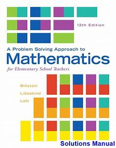 Problem Solving Approach To Mathematics For Elementary