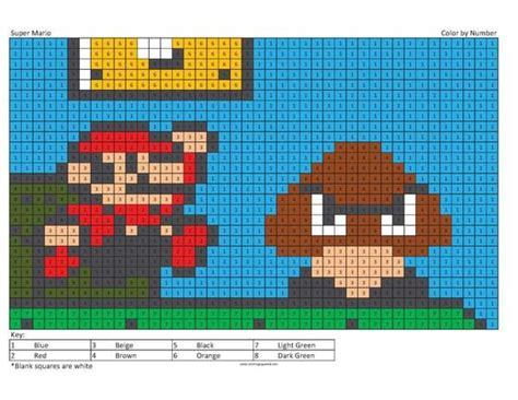 megapixel characters super mario coloring pages mario coloring pages color