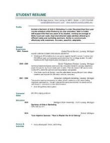 college grad resume template jobresumeweb high student resume exle resume template builder