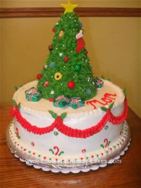 cool homemade christmas tree topper cake