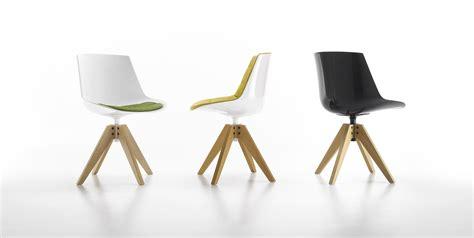 chaise de cuisine pivotante chaise pivotante flow 4 pieds vn chêne blanc piètement