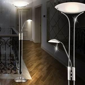 Led Beleuchtung Wohnzimmer : deckenfluter stehlampe wohnzimmer leuchte 20 5 w led licht leselampe beleuchtung ebay ~ Buech-reservation.com Haus und Dekorationen