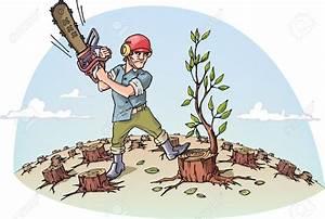 Man Cutting Down Tree Clipart (53+)