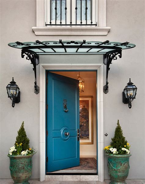 front door awnings add decors to your exterior with 20 awning ideas home