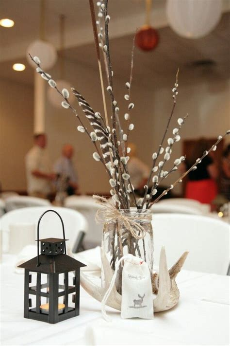 hunting themed wedding centerpieces  pretty wedding