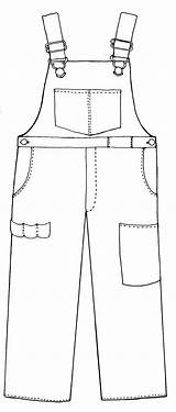 Overall Clipart Bib Overalls Coloring Template Printable Farmer Boy Line Boys Clipground Cliparts Cartoon Sketch Visit Craft sketch template