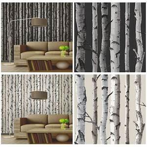 FINE DECOR BIRCH TREES WALLPAPER 10m