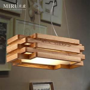 Lustre En Bois : lustre en bois design design en image ~ Teatrodelosmanantiales.com Idées de Décoration