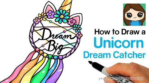 draw  unicorn dream catcher easy youtube