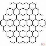 Hexagon Honeycomb Printable Coloring Tessellation Hexagonal Colorear Panal Dibujos Colorare Disegni Bee Gratis Imprimir Teselado Dibujo Ausmalbilder Crafts Colorir Mosaicos sketch template
