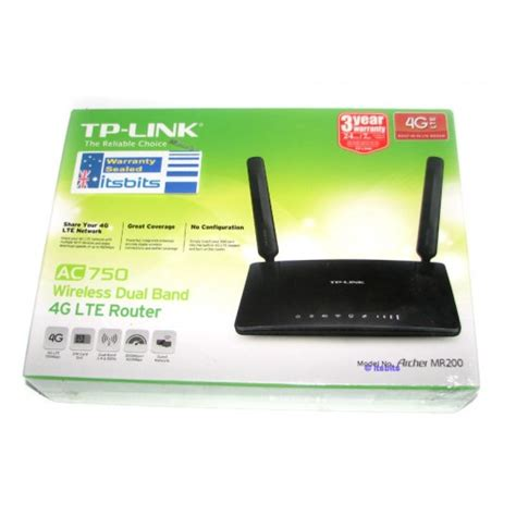 TPLink Archer MR200 AC750 Wireless Dual Band 4G LTE