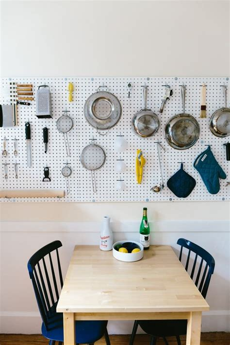pegboard kitchen organizer 32 smart and practical pegboard ideas for your home digsdigs 1445