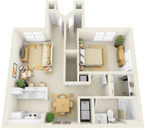 house plans with apartments 1 bedroom apartment house plans