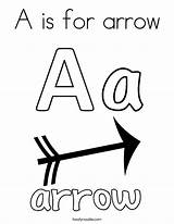 Coloring Arrow Letter Pages Bow Printable Letters Getcolorings Abc Twistynoodle Clipartmag sketch template