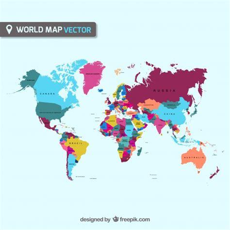 Carte Du Monde Gratuite Vectorielle by Carte Vectorielle Du Monde T 233 L 233 Charger Des Vecteurs