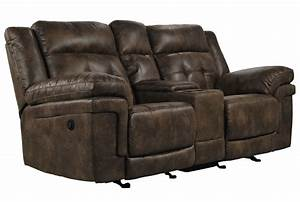 Carver Power Reclining Loveseat W/Console - Living Spaces